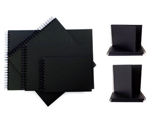 Black Card Display Books