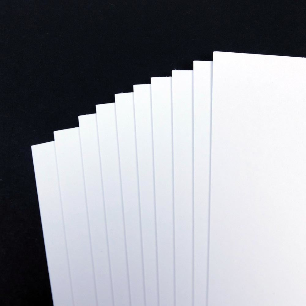 A5 5gsm White Card, 5 sheet pack