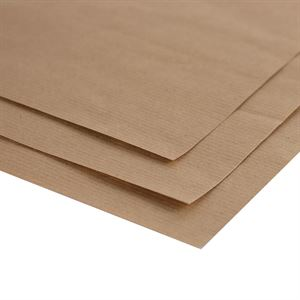 Brown Ribbed Kraft Paper