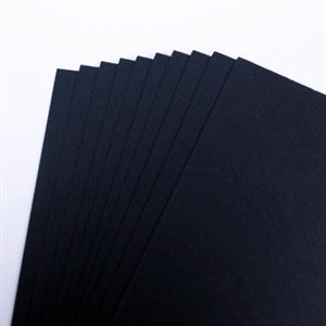 A4 225gsm Black Card, 10 Sheet Retail Pack CDB4SA410