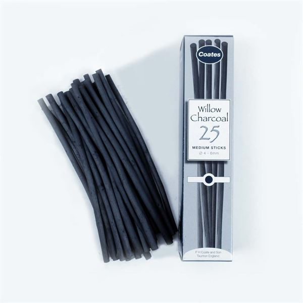 DACHM 25x Medium Sticks Charcoal