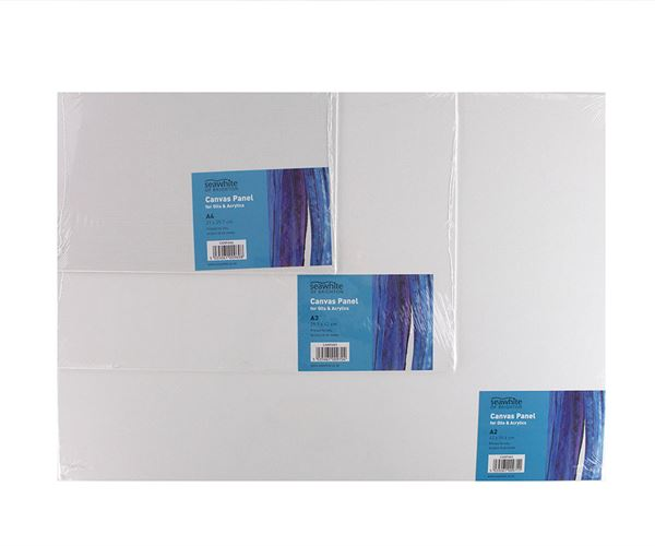 A5 Primed Canvas Board - pack of 10