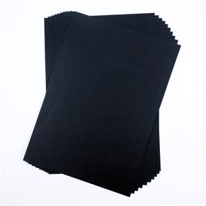 A4 300gsm Black Card, 50 Sheet Pack CDB6SA4