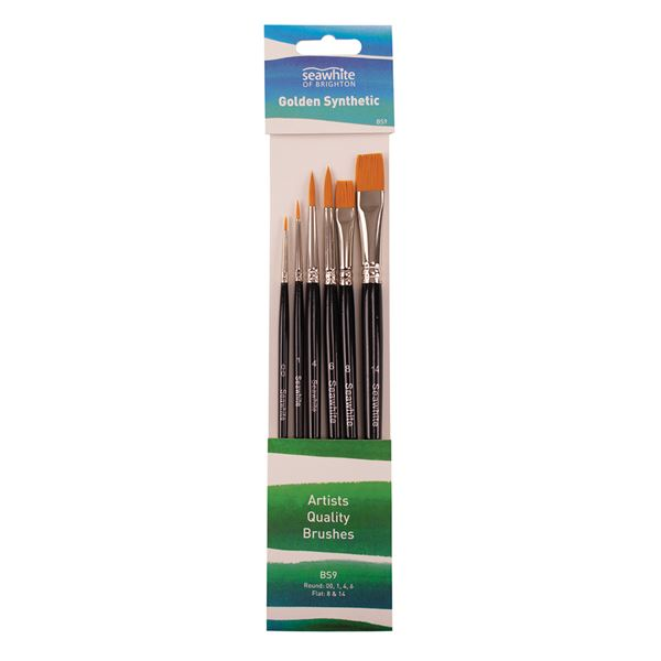 Seawhite Brush Set (R:00,1,4,6. F: 8,14) BS9